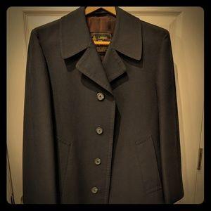 London Fog Black Raincoat